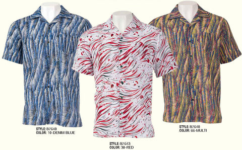 Inserch Rayon Blend Burnout Shirts with Print