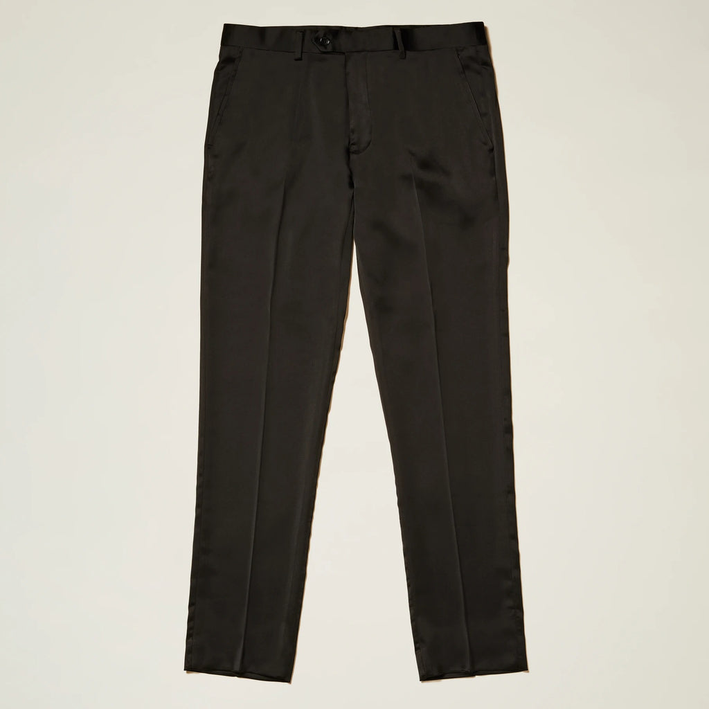 Inserch Satin Pants with Stretch P3901-01 Black