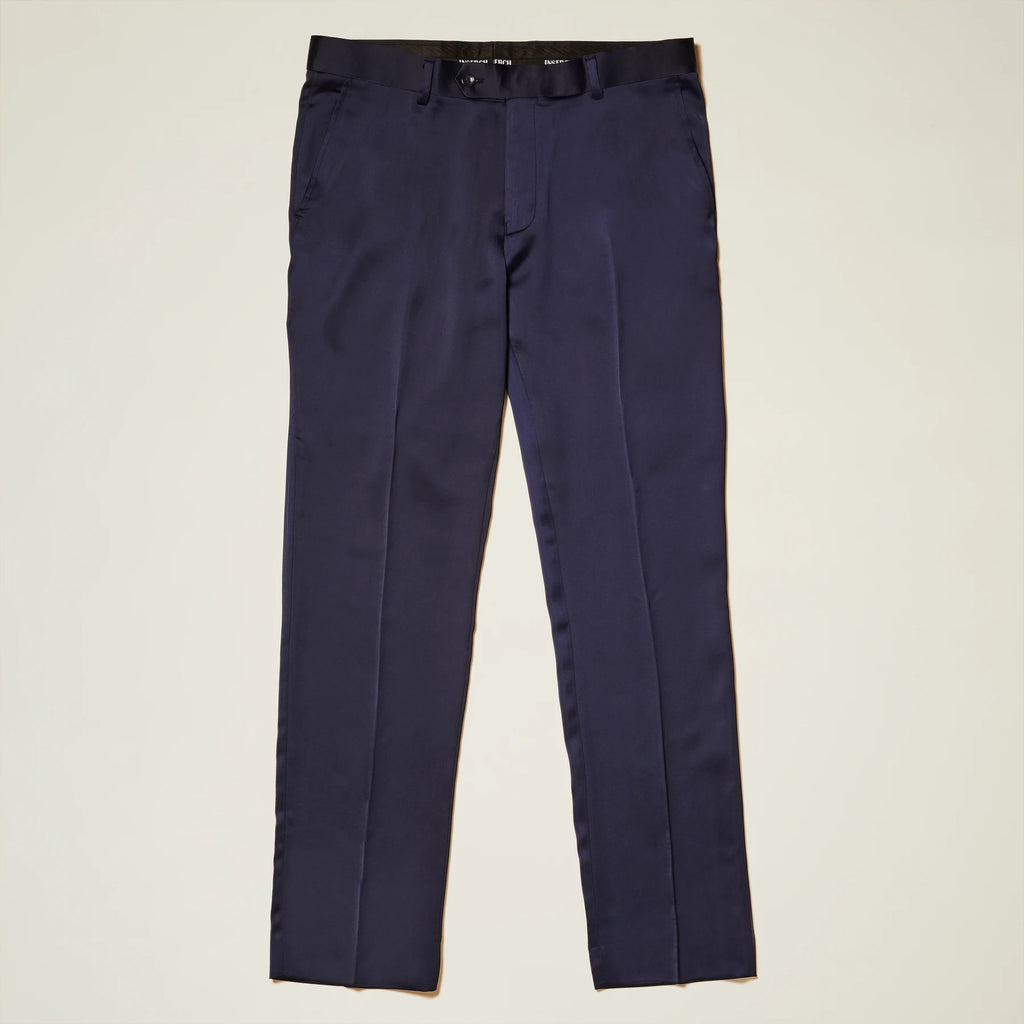 Inserch Satin Pants with Stretch P3901-11 Navy