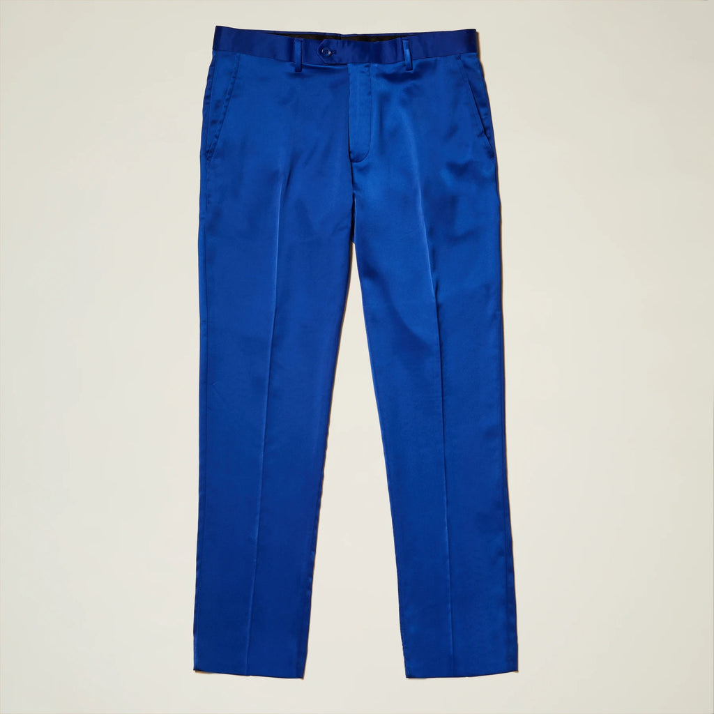 Inserch Satin Pants with Stretch P3901-13 Royal Blue