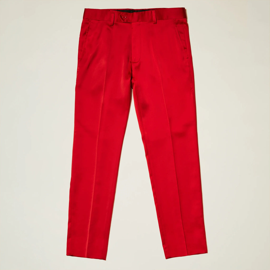 Inserch Satin Pants with Stretch P3901-30 Red