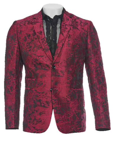 Inserch Abstract Smoking Jacket 5522-45 Magenta