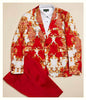 Inserch Baroque Print Cotton Stretch Blazer 549B-30 Red