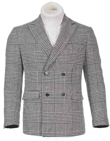Inserch Houndstooth Check Blazer 590-41 Black/White