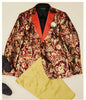 Inserch Peak Lapel Blazer with Baroque Jacquard Pattern 592-109 Burnt Orange