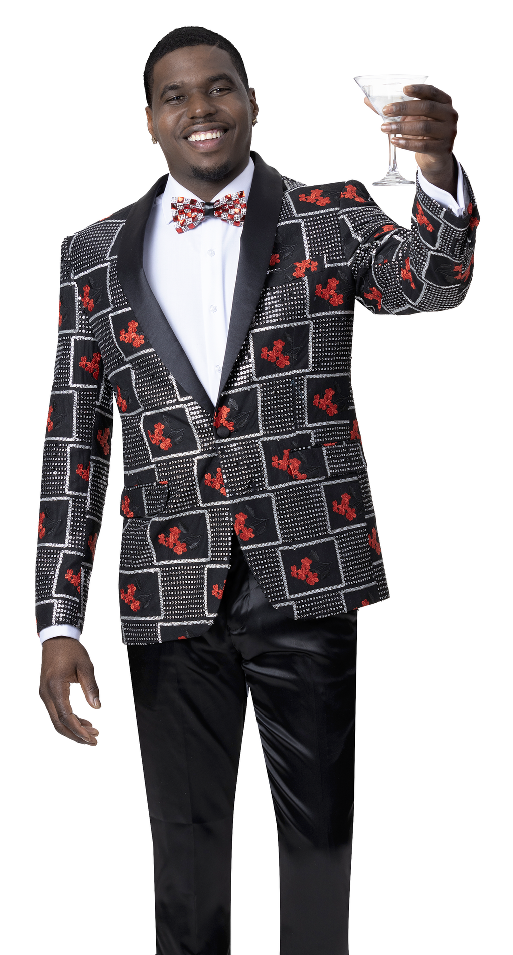 EJ Samuel Black/Red Blazer J88