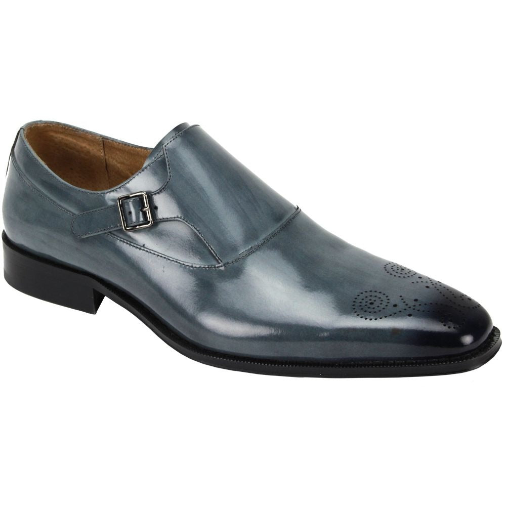 Giovanni Keegan Grey Leather Shoes