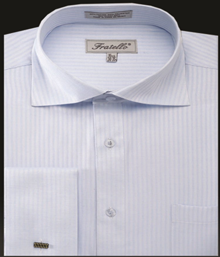 Fratello French Cuff Dress Shirt FRV4906P2 Light Blue