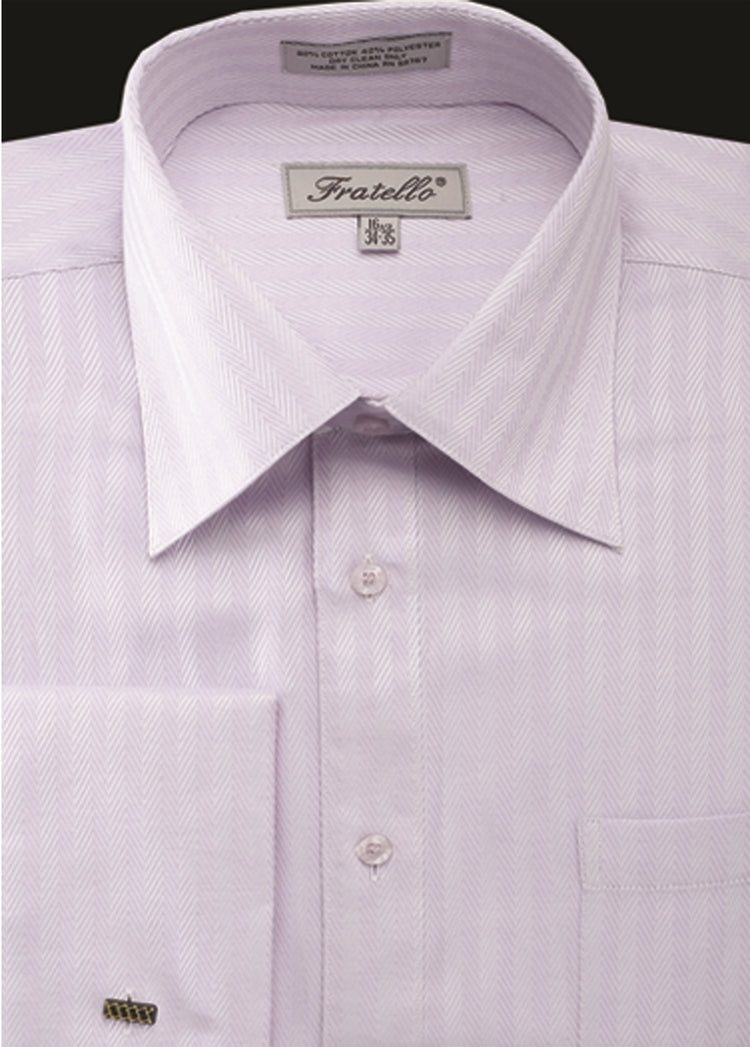 Fratello French Cuff Dress Shirt FRV4906P2 Lilac