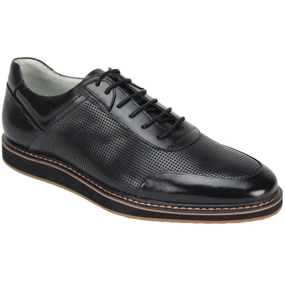 Giovanni Lorenzo Black Leather Shoes