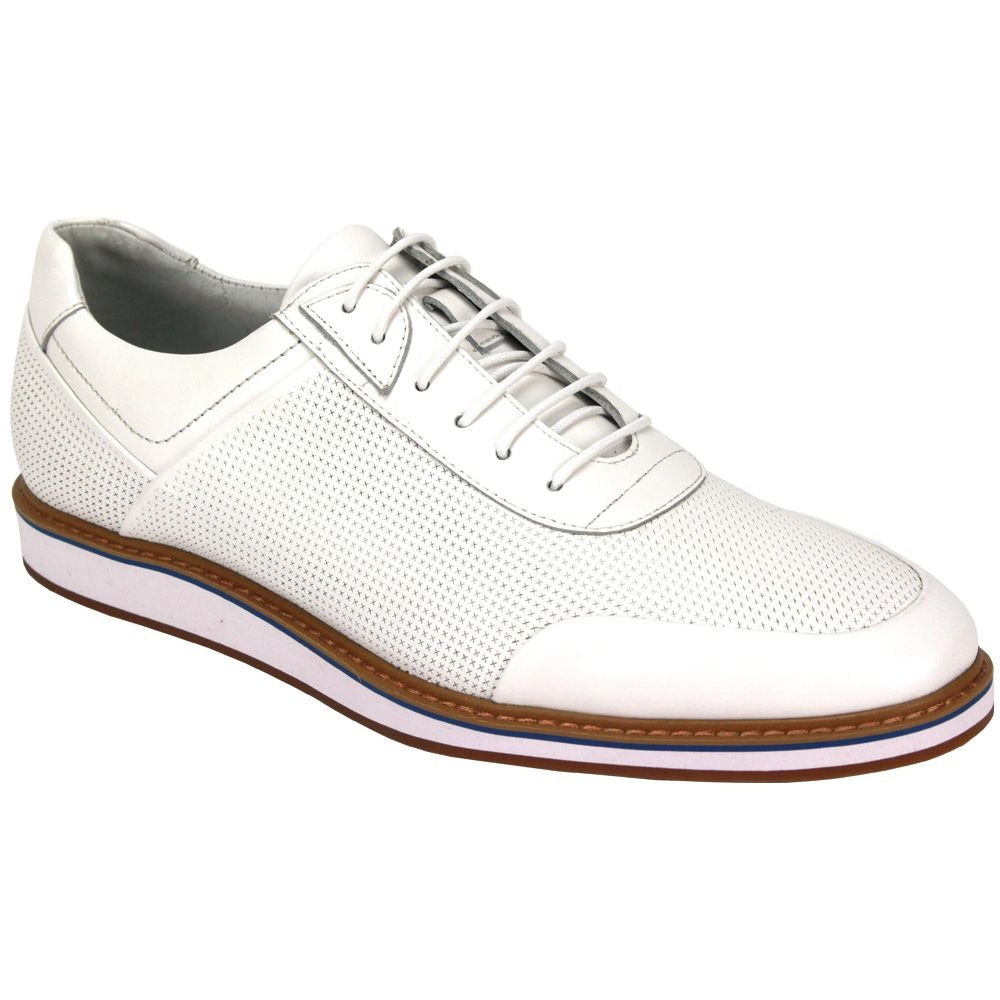 Giovanni Lorenzo White Leather Shoes