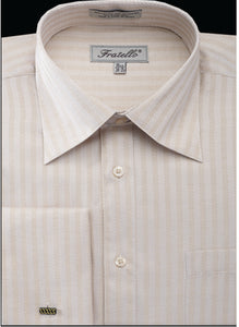 Fratello French Cuff Dress Shirt FRV4906P2 Melon