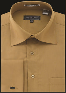 Avanti Uomo French Cuff Dress Shirt DN32M Mustard Gold