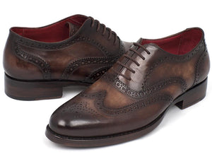 Paul Parkman Wingtip Oxfords Goodyear Welted Brown - 027-BRW