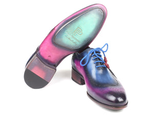 Paul Parkman Opanka Construction Blue & Purple Oxfords - 726-BLU-PUR