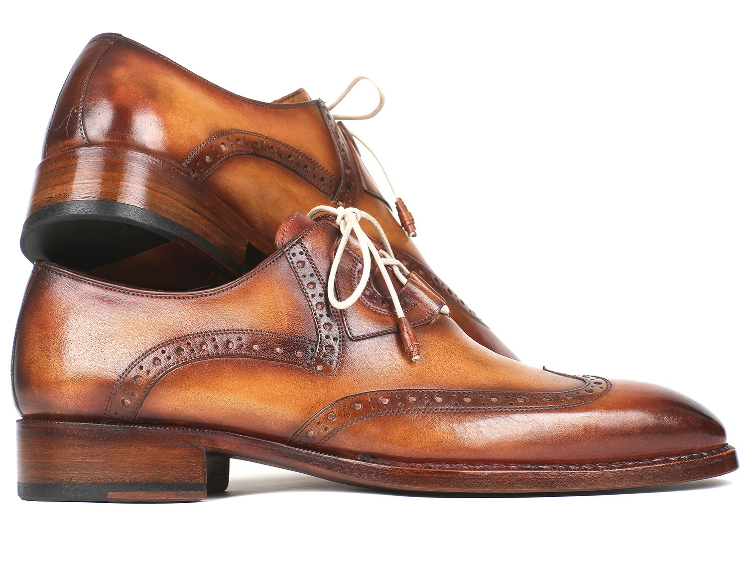 Paul Parkman Goodyear Welted Ghillie Lacing Wingtip Brogues - 2955-CML