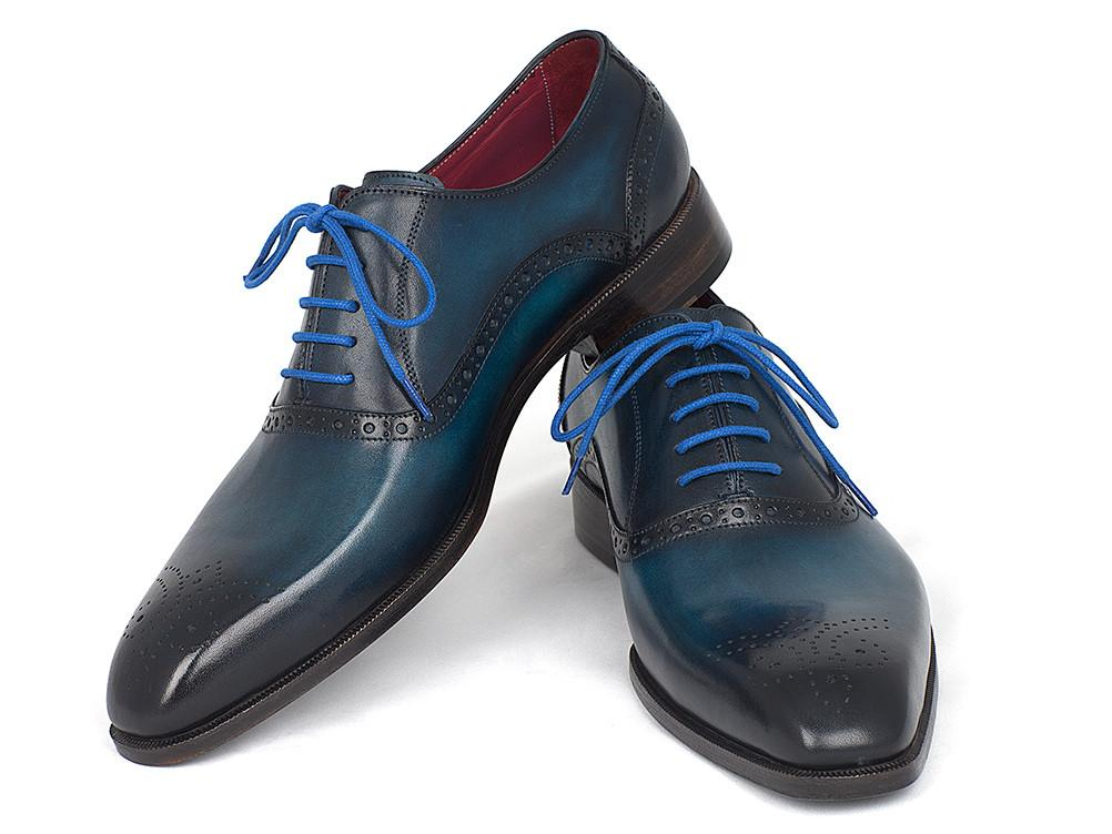 Paul Parkman Blue & Navy Medallion Toe Oxfords - FS88VA