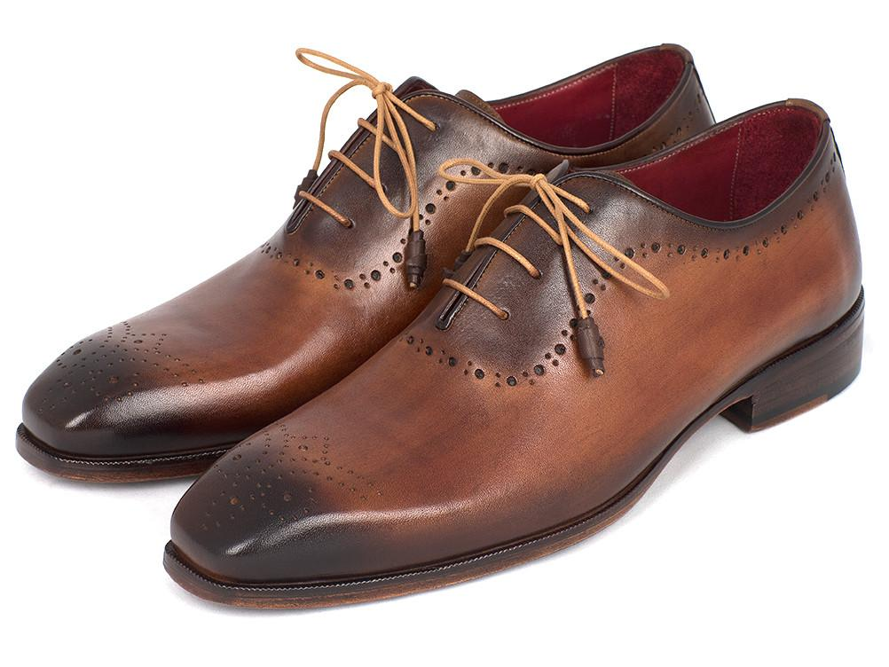 Paul Parkman Brown & Camel Medallion Toe Oxfords - GF61AZ