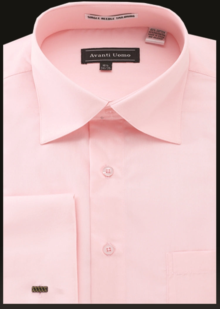 Avanti Uomo French Cuff Dress Shirt DN32M Pink