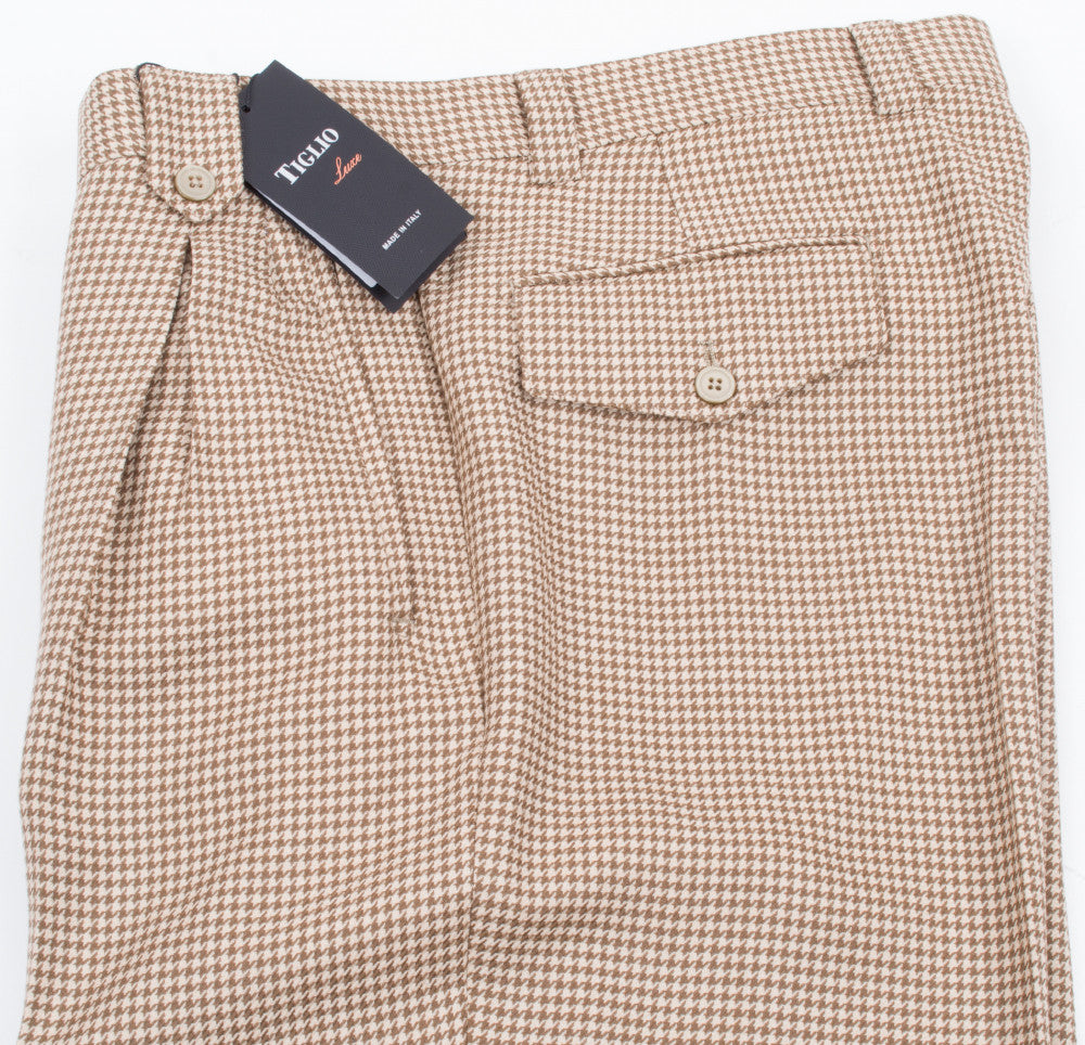 Tiglio Luxe TIG1003 Wide Leg RF2238/2 Brown Houndstooth