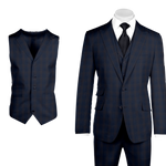 Tiglio Luxe Barbera, Modern Fit Pure Wool Suit & Vest - RS74395/5
