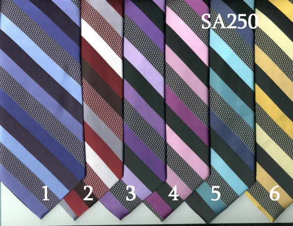 Striped Tie & Handkerchief Set (SA250)