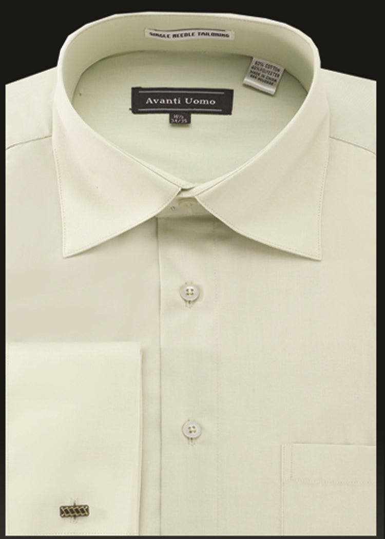 Avanti Uomo French Cuff Dress Shirt DN32M Sage