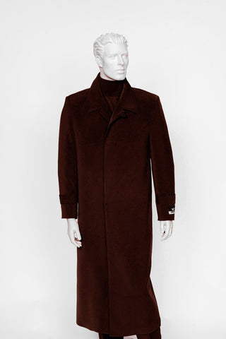 Carmel Zhao Duster Coat Burgundy SEATTLE