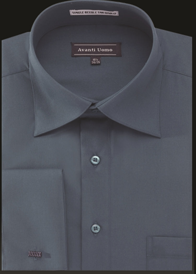 Avanti Uomo French Cuff Dress Shirt DN32M Steel Blue