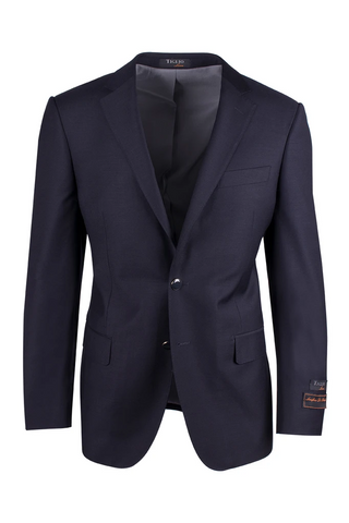 Novello Navy Blue, Modern Fit, Pure Wool Blazer by Tiglio Luxe TIG1002