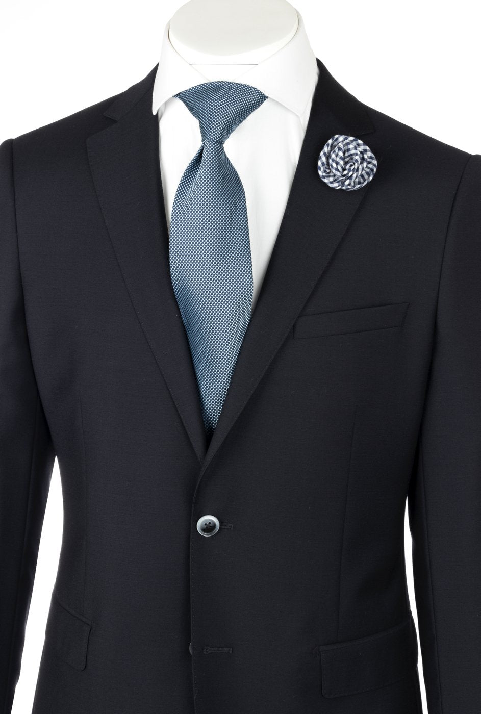 Porto Dark Navy, Slim Fit, Pure Wool Suit by Tiglio Luxe TIG1002