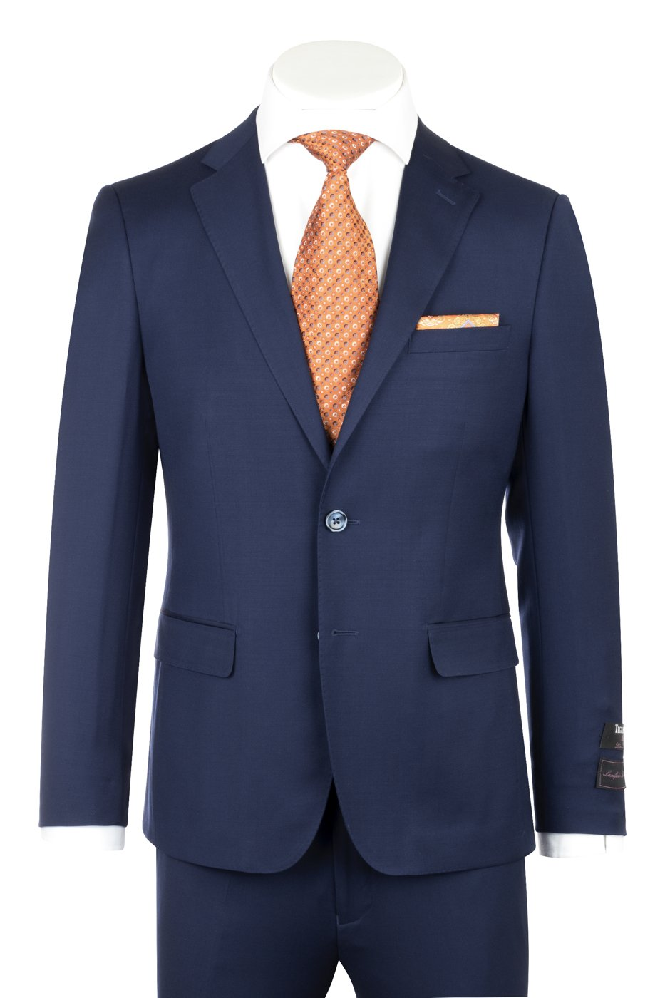 Porto French Blue, Slim Fit, Pure Wool Suit by Tiglio Luxe TIG5966