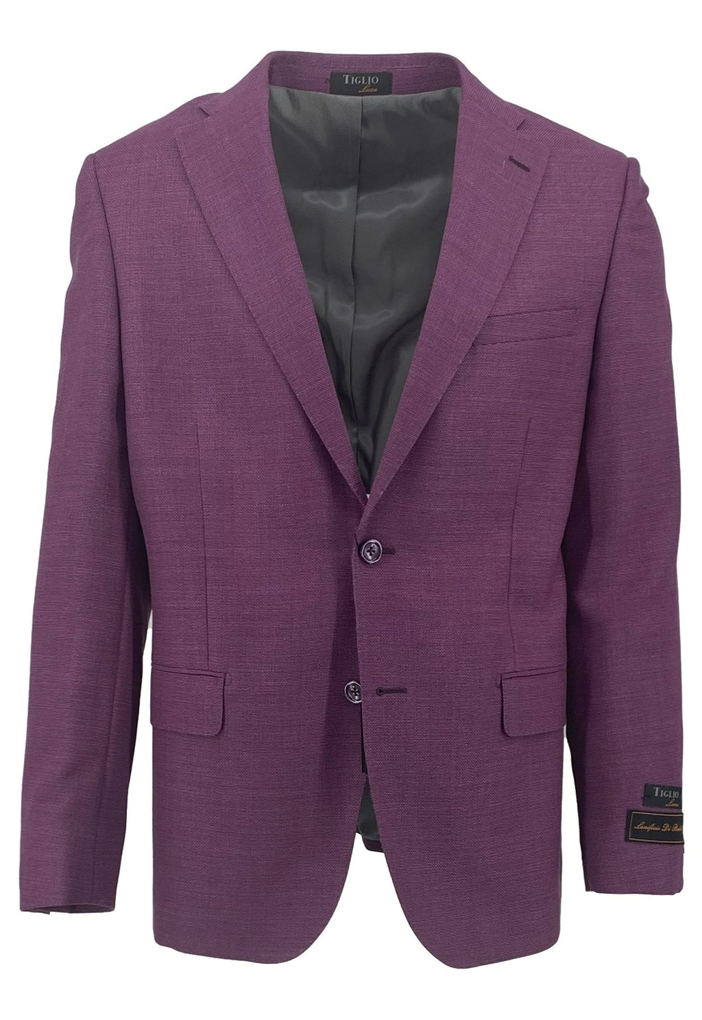 Dolcetto Plum Modern Fit, Pure Wool Jacket by Tiglio Luxe TL10.715/444