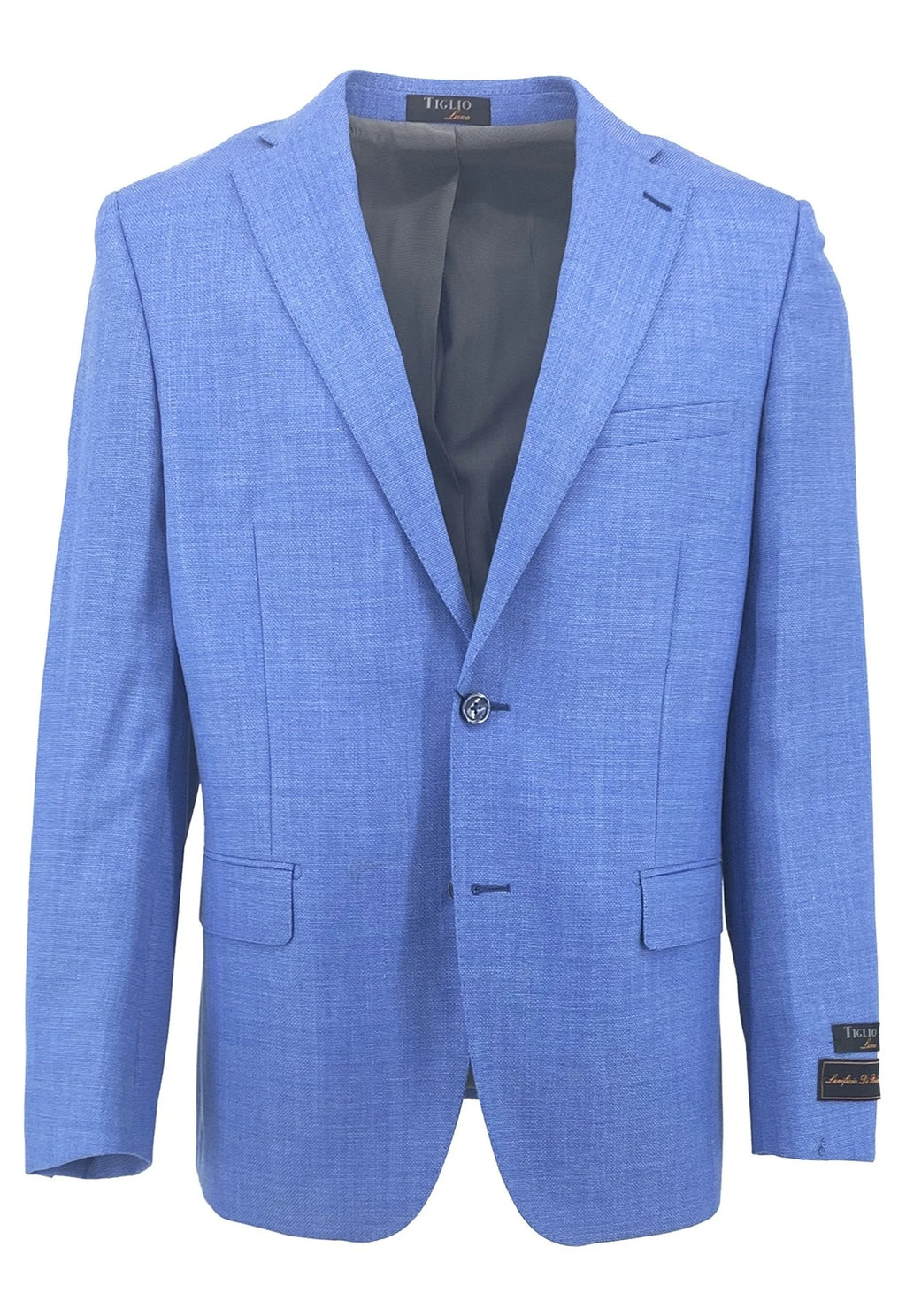 Dolcetto Sky Blue Modern Fit, Pure Wool Jacket by Tiglio Luxe TL10712/331