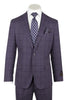DOLCETTO Purple with navy windowpane, Modern Fit, Pure Wool Suit by TIGLIO LUXE Menswear TL10947/3