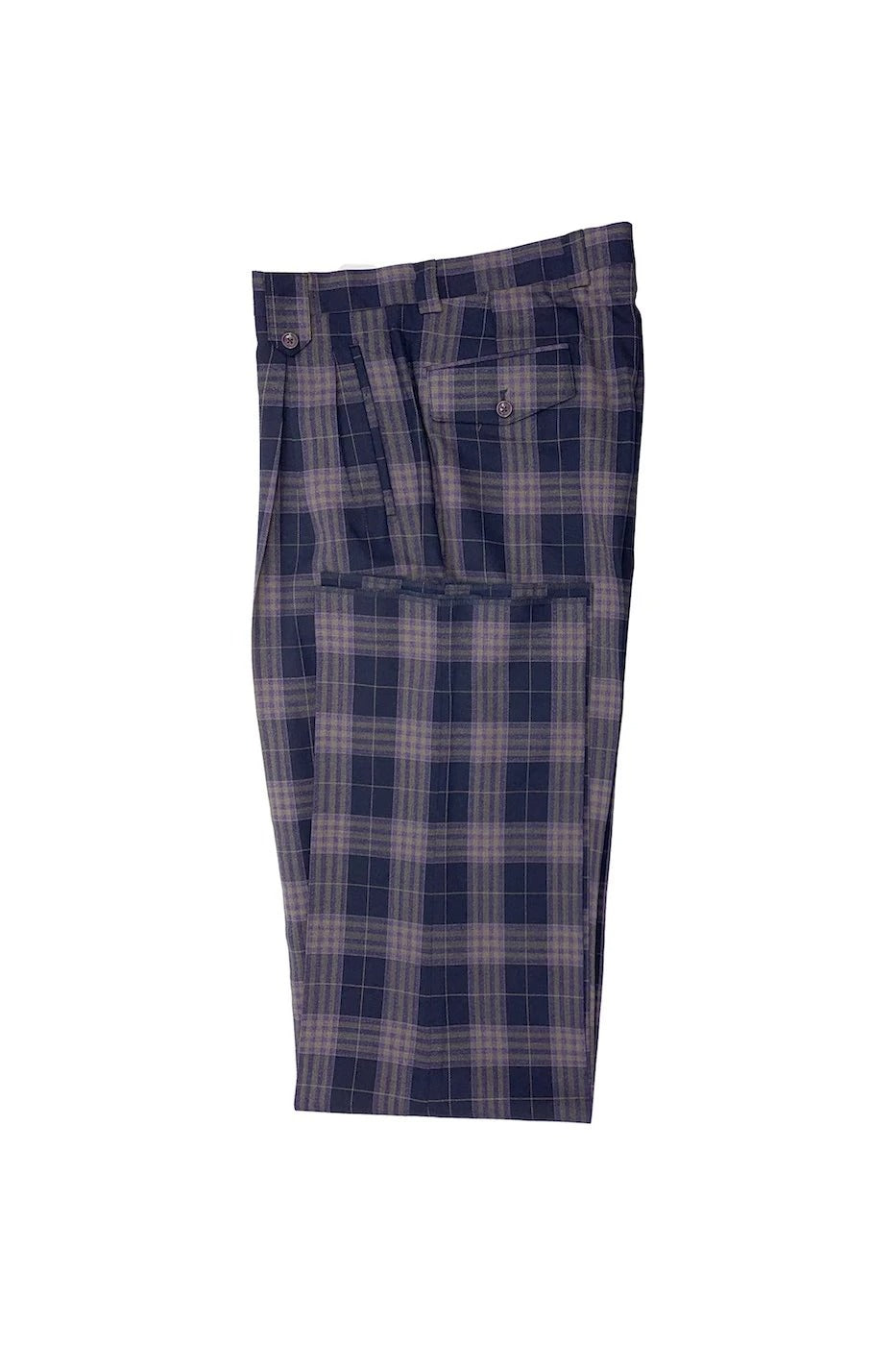 Tiglio Luxe 2576 Navy with Lavender and Taupe Windowpane Wide Leg RS3000/1