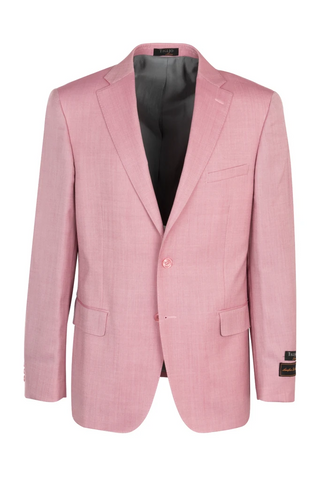 Dolcetto Pink, Modern Fit, Pure Wool Jacket by Tiglio Luxe TS6093/1