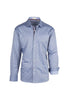 Tiglio Sport Blue Jean with Mini Square Design Modern Fit Sport Shirt V-72178