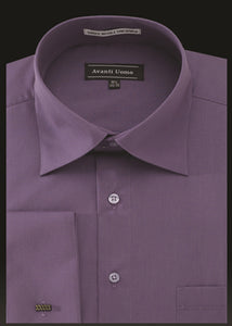 Avanti Uomo French Cuff Dress Shirt DN32M Violet