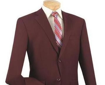 Vinci Regular Fit 2 Button Business Blazer (Burgundy) Z-2PP