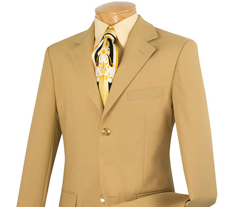 Vinci Regular Fit 2 Button Business Blazer (Gold) Z-2PP