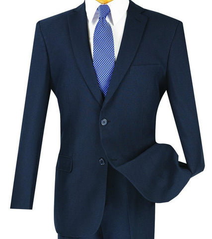 Vinci Regular Fit 2 Button Business Blazer (Navy) Z-2PP