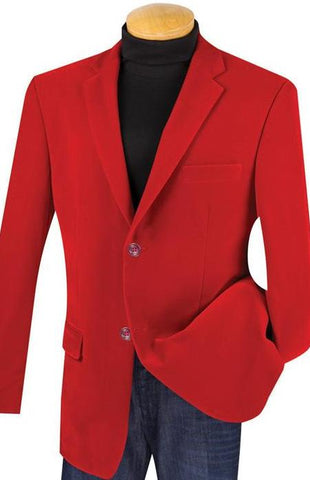 Vinci Regular Fit 2 Button Business Blazer (Red) Z-2PP