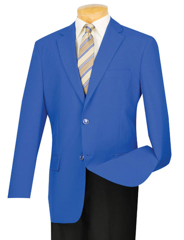 Vinci Regular Fit 2 Button Business Blazer (Royal) Z-2PP