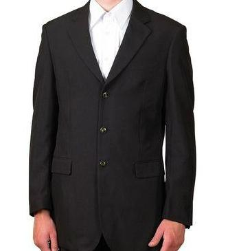 Vinci Regular Fit 3 Button Blazer (Black) Z-3PP