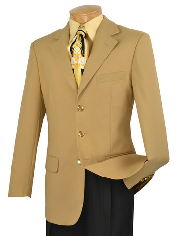 Vinci Regular Fit 3 Button Blazer (Gold) Z-3PP