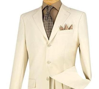 Vinci Regular Fit 3 Button Blazer (Ivory) Z-3PP