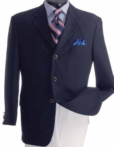 Vinci Regular Fit 3 Button Blazer (Navy) Z-3PP