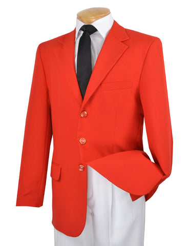 Vinci Regular Fit 3 Button Blazer (Red) Z-3PP