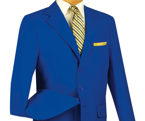 Vinci Regular Fit 3 Button Blazer (Royal) Z-3PP